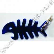 B05 Ultratec Fish Bone Key Ring Opnr Blue