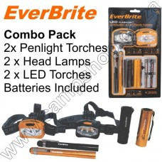 Everbrite Combo 4 Torches + 2 Headlamps