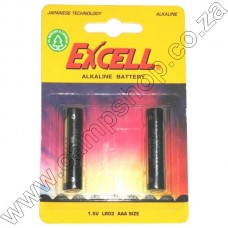 Excell AAA (LR03) Alkaline Batteries - 2 per pack