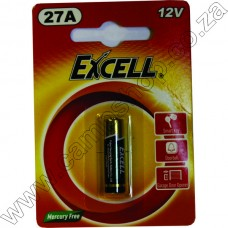 Excell 27A 1.5V Z-Mang.  Battery Blister - 1 Pce Card