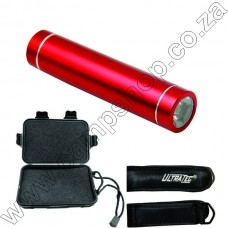 Red Rechargeable 100 Lumen Flashlight