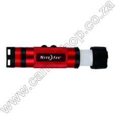 Radiant 3-In-1  LED Mini Flashlight - Red