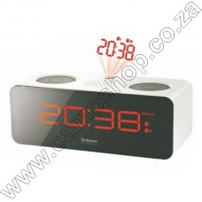RRA320PN Radio Projection Alarm Clock - White Oregon