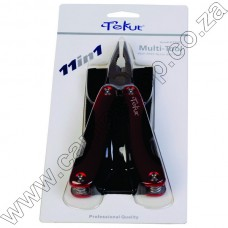 Tekut 11 Func M-Tool W-Nylon Sheath - Single Red