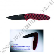 Lk4120 Tekut Fire Snake Black And Red G10 L-Lock Knife Box