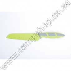 6.5In Green Santoku Knife Non-Stick Stainless Steel Blade Ergo Handle