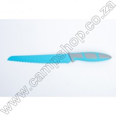 8In Blue Bread Knife Non-Stick Stainless Steel Blade Ergo Handle