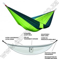 Ultratec Double 230T Poly Tech Hammock Green