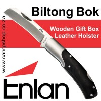 Enlan Biltong Bok Box and Sheath 5CR15MOV