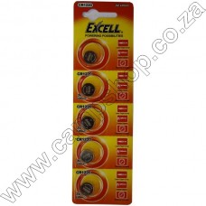 Excell CR1220 3V Lithium Battery Blister - 5Pce Card