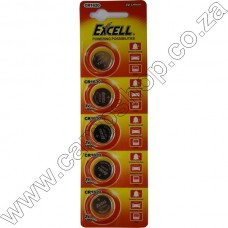 Excell CR1620 3V Lithium Battery Blister - 5Pce Card