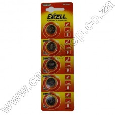 Excell CR1632 3V Lithium Battery Blister - 5Pce Card