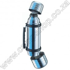 Isosteel SS VAc Flask 1L with Two