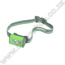 NEXTORCH TREKSTAR ULTRA LIGHT WT HEADLAMP 3 AAA GREEN