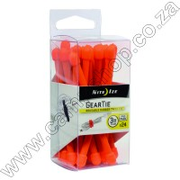Gear Tie Propack 3 In. - 24 Pack - Bright Orange