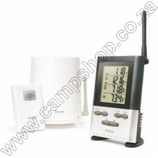 RGR126N Wireless Rain Gauge with Outdoor Temp and 9 Day Memory - Silver Oregon