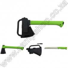 Ultraedge 352mm Axe and Saw With Sheath and Fith Starter Green