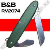 BandB Green 2 Blade Knife Sheepsfoot Blade with Bottle Opener and Screwdriver
