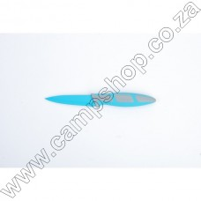 3.5In Blue Paring Knife Non-Stick Stainless Steel Blade Ergo Handle
