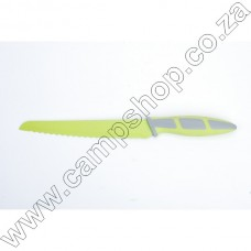 8In Green Bread Knife Non-Stick Stainless Steel Blade Ergo Handle